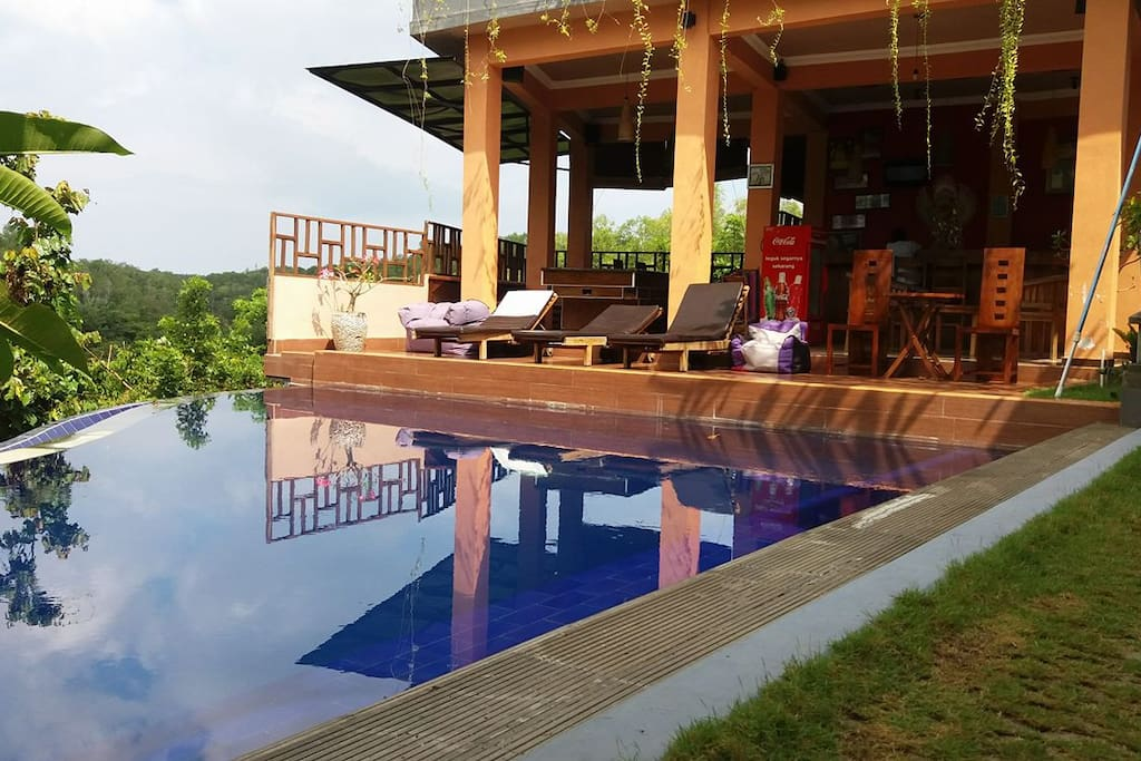 wake up and go for a swim, also have breakfast lunch or dinner at the restaurant!