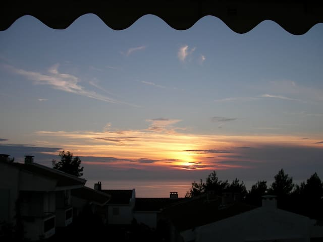 Maisonette with sunset, sea and Mount Olympus view - Siviri - Ev