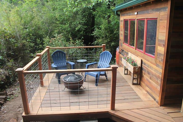 south-facing deck