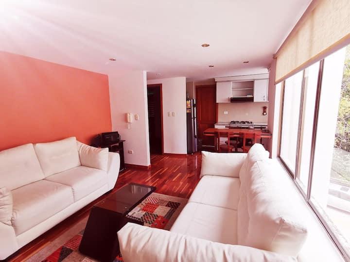Acogedor apartamento, rodeado de naturaleza.