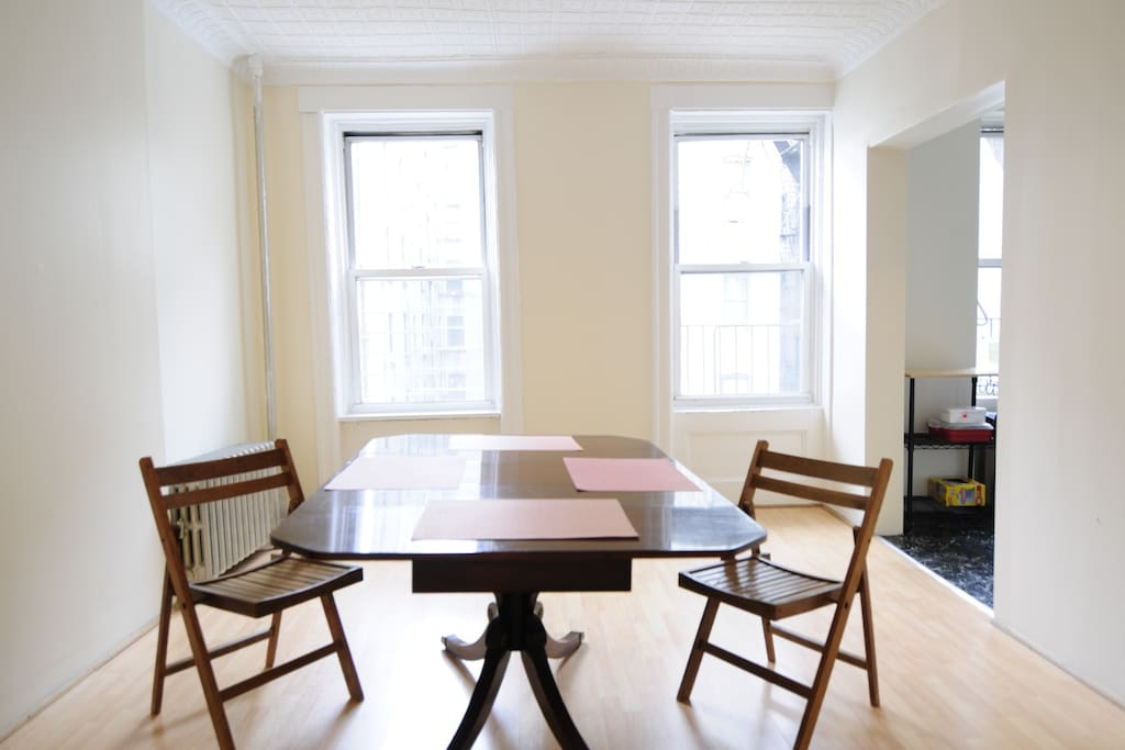 Dining Room easily seats four.  South-facing windows.
