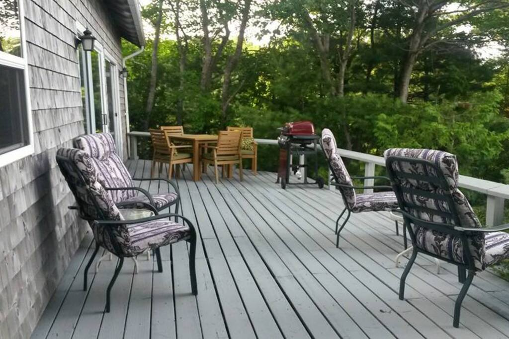 Spacious deck overlooking Somes Sound