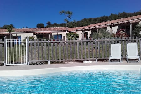 """la Blanquette"" : pool-sun-peace-beautiful view - Apartment"