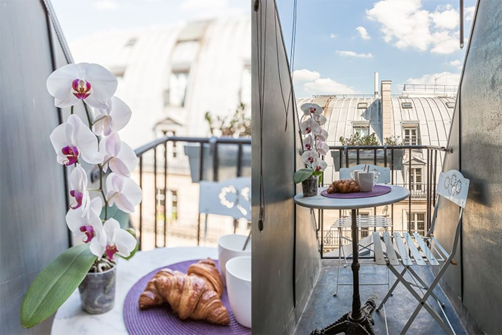 3 balconies: perfect for your breakfast