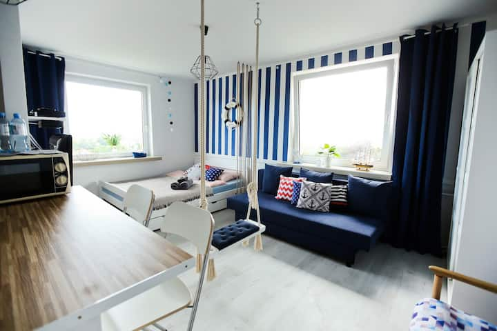 Swing Studio-great sea view! 12min to the beach