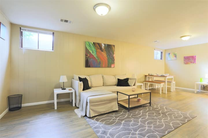 Charming and Open Lower Level Guest Suite!