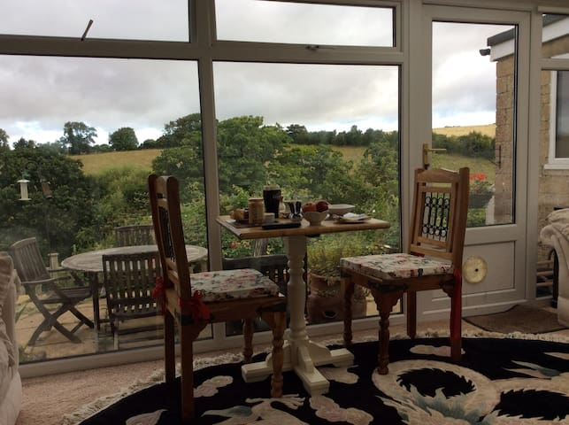 Amazing Dining Room breakfast country view