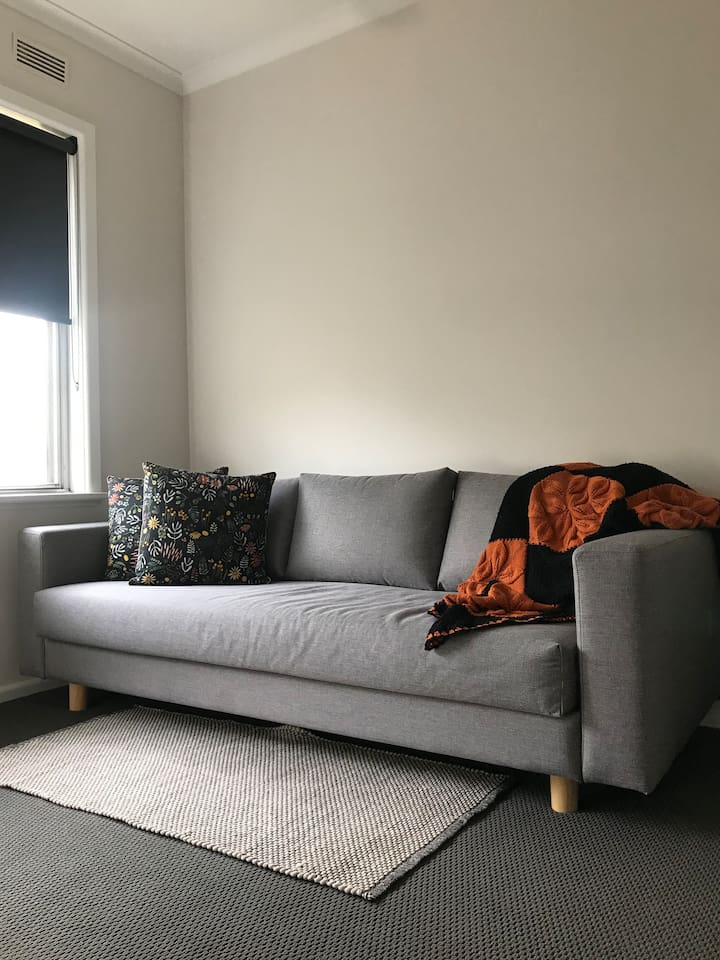 Spare room sofa.