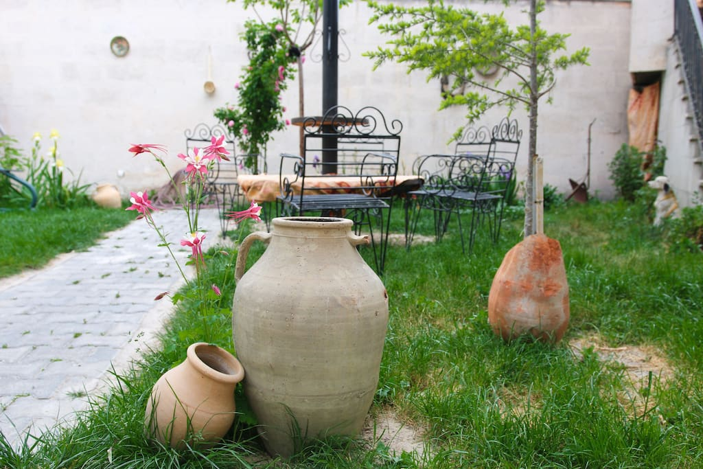 Our garden is perfect to relax, enjoy the sunshine and listen to the birds chirping.
