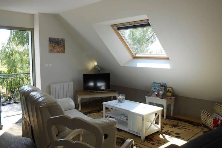 """""""LES AGAPHANTES  """"    Appartement de vacances - La Vicomté-sur-Rance - Lejlighed"""