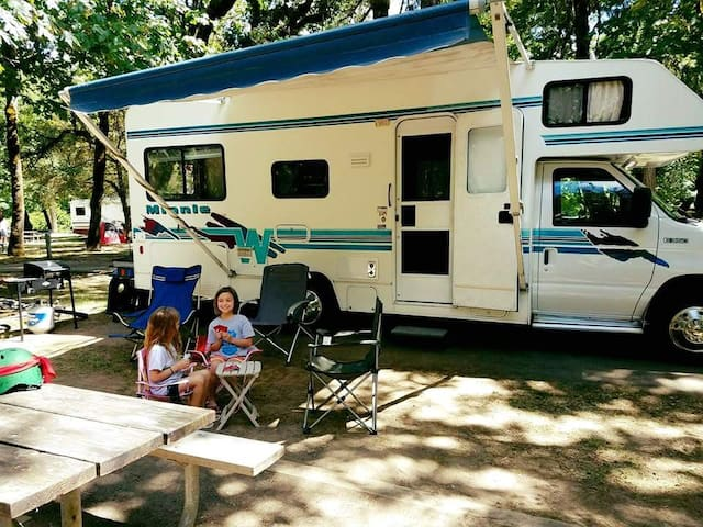 Motor Home with privacy