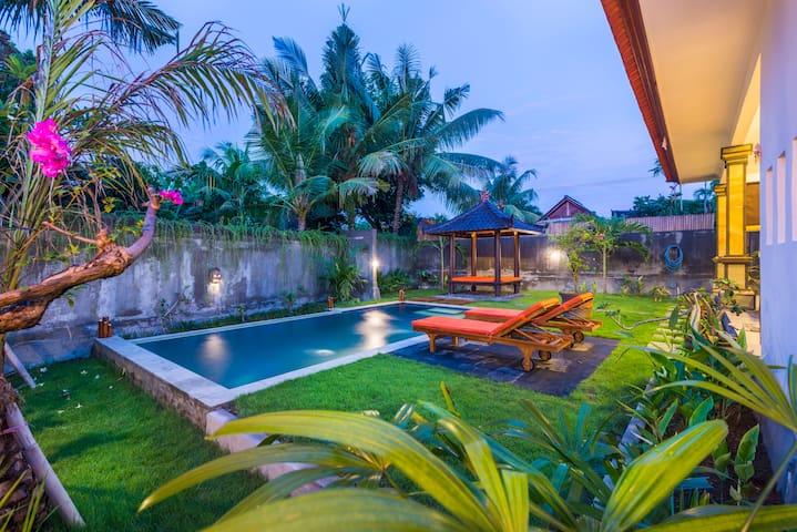 villa Nino - 7m pool, garden, WiFi speed: 34 Mbps - Mengwi - Villa