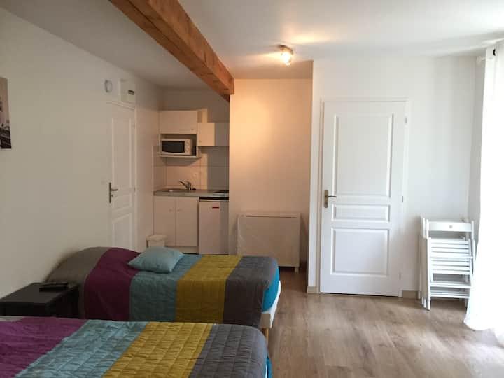 Appartement en semaine, 4 lits simples