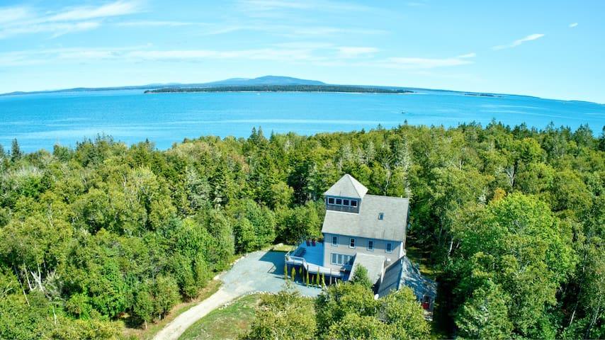 Spacious Coastal Retreat with Views of Acadia