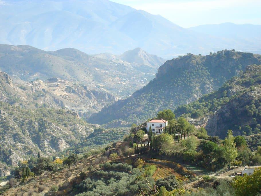 Views of the mountainous valley