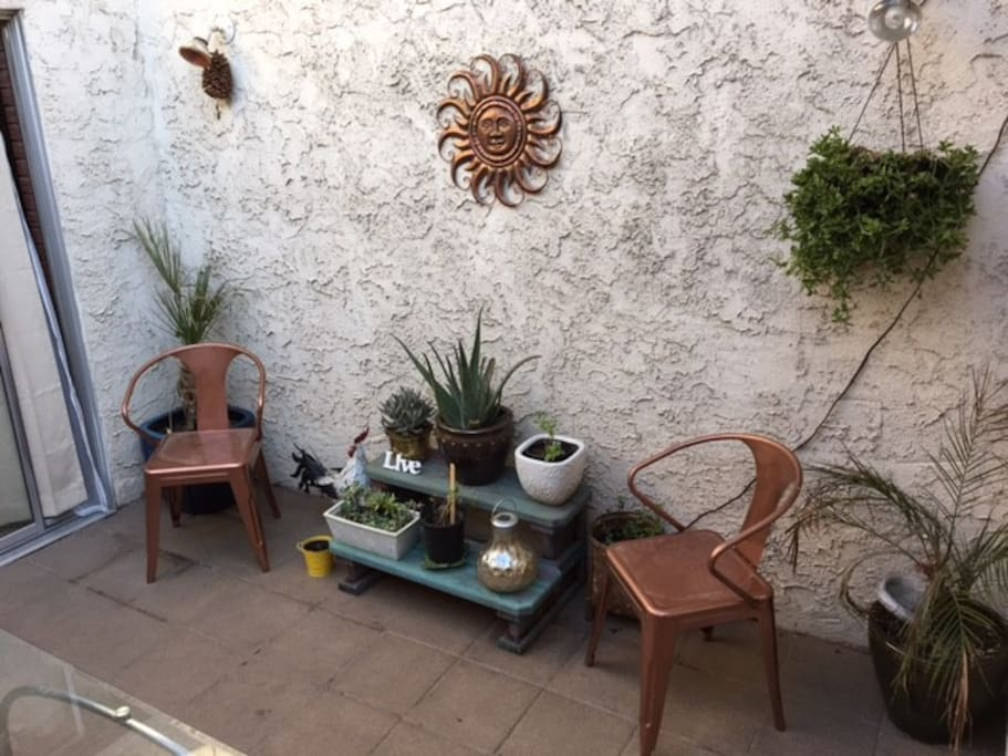 Our courtyard - hot in the summer but wonderful at night!