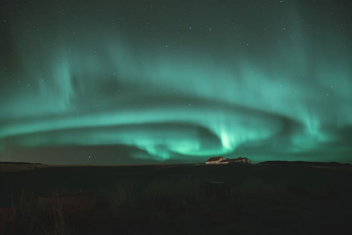 Auroras over the farm