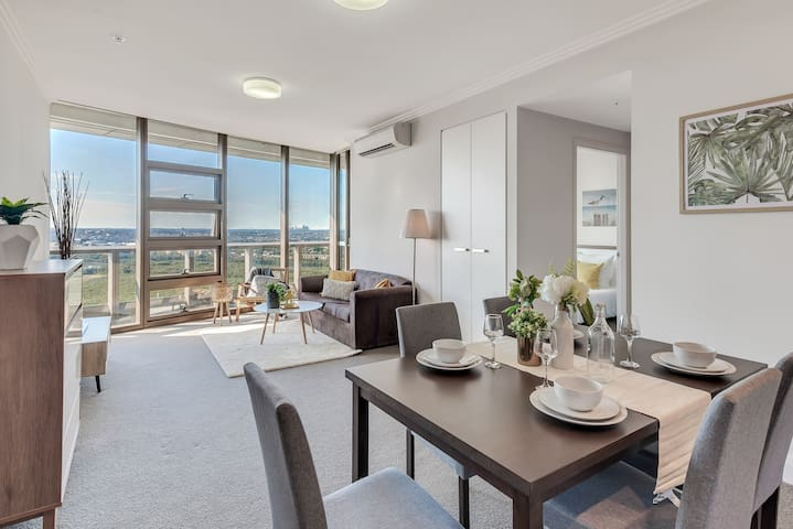 ♛Sydney Olympic Park 2BR City View High Level Apt
