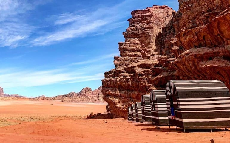 Wadi Rum Desert Camp - Colored (2 x Single beds)