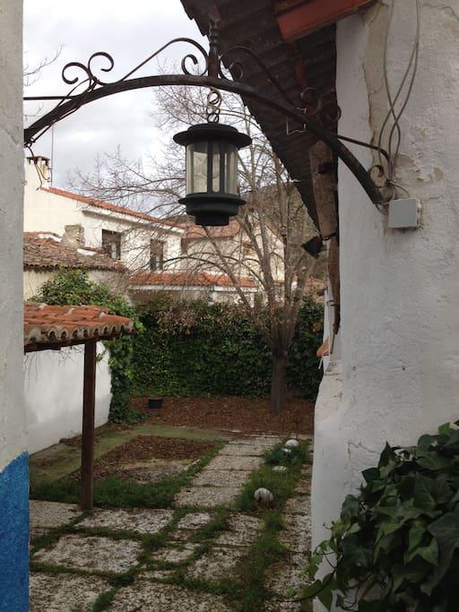 Jardín VISTA SUPERIOR parte trasera del patio