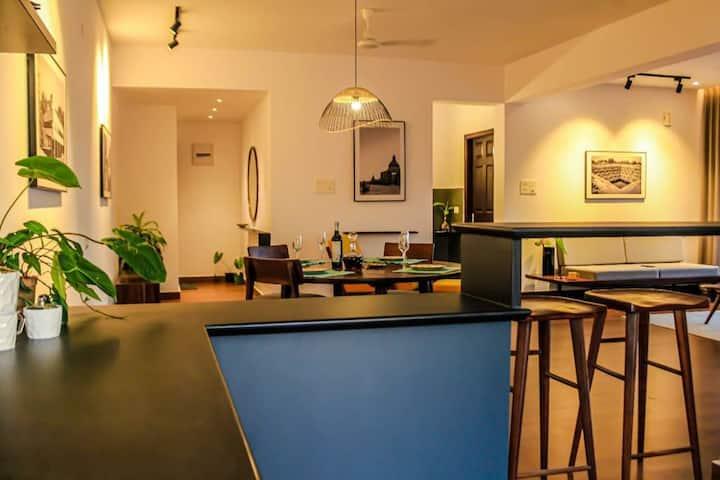 Scandinavian Living, plush modern cozy apartment