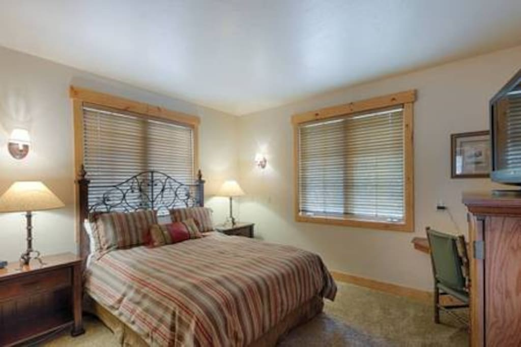 Guest bedroom on main level