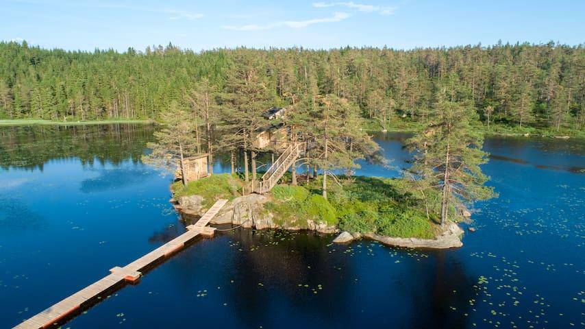 Øy Hytta - TreeTop Fiddan