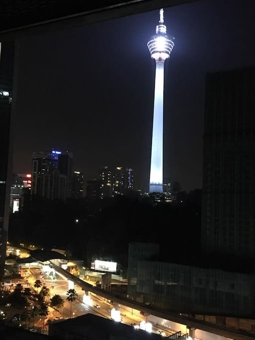 KL tower view frm the room