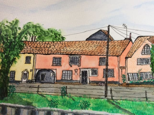 Swan House as seen by local artist