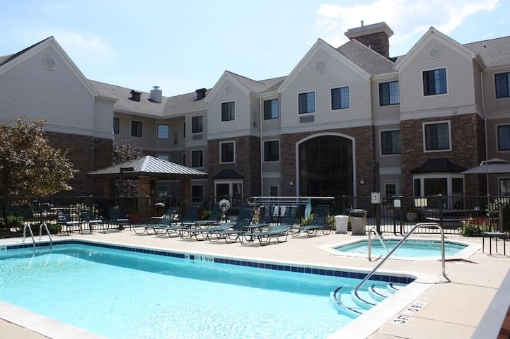 Close to the Airport! | Free Breakfast + Seasonal Outdoor Pool + Hot Tub