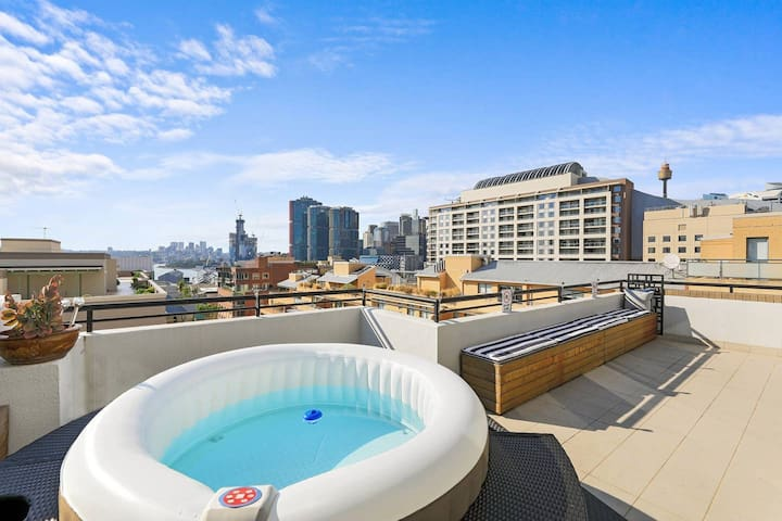 Enjoy the jacuzzi/hot tub with stunning views right on your private balcony!  Best way to relax for all seasons.