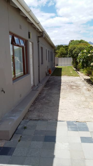 Private parking next to house