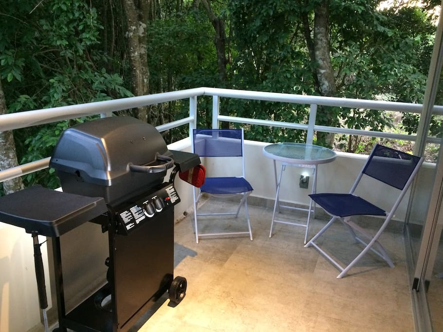 Balcony with Propane Barbecue and Bistro set