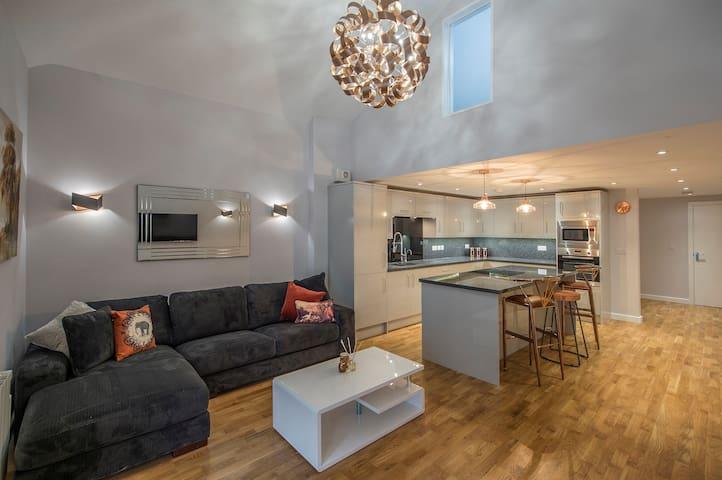 Modern, Stunning and Elegant 2 bedroom Apt for 4