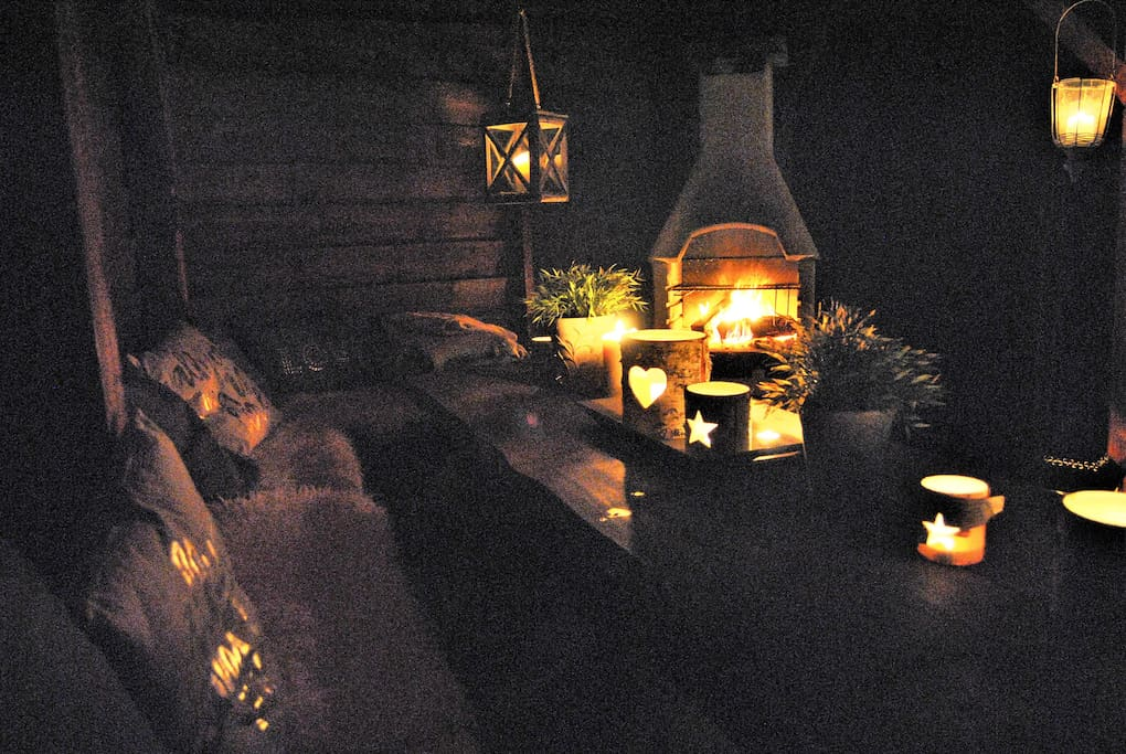 Cosy fireplace for outside