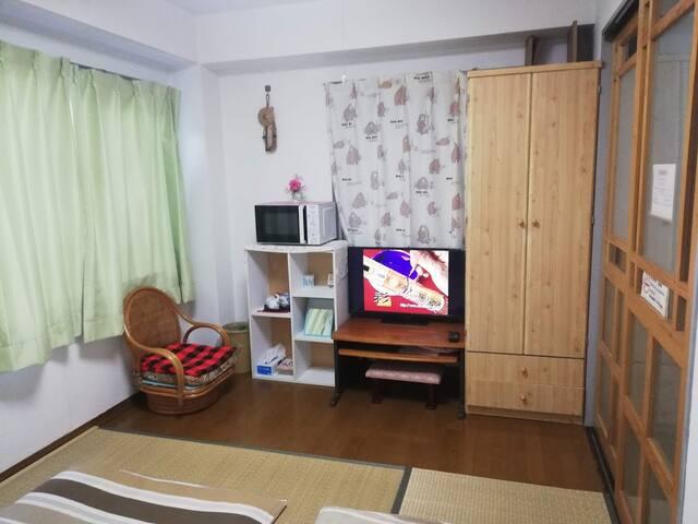 Relax&Private tatami-room 离车站3分鐘,完全獨立使用,中文OK