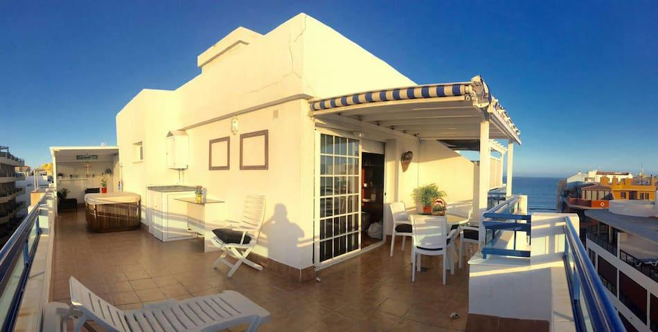 Ático Marazul, vistas Playa y Plaza - El Médano - Apartamento