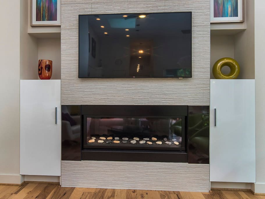 living room fireplace to set the mood