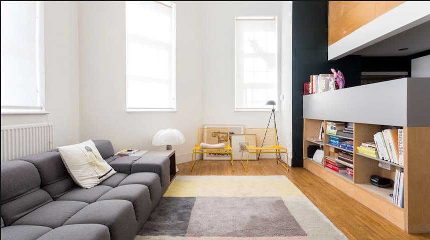 Double height loft style flat