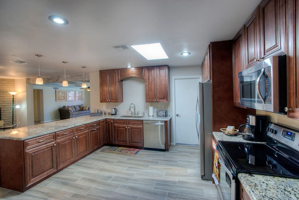 Inside of Large Open Kitchen