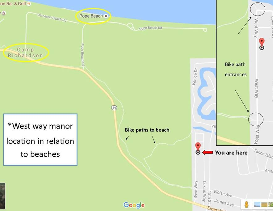 Location to beaches and bike paths