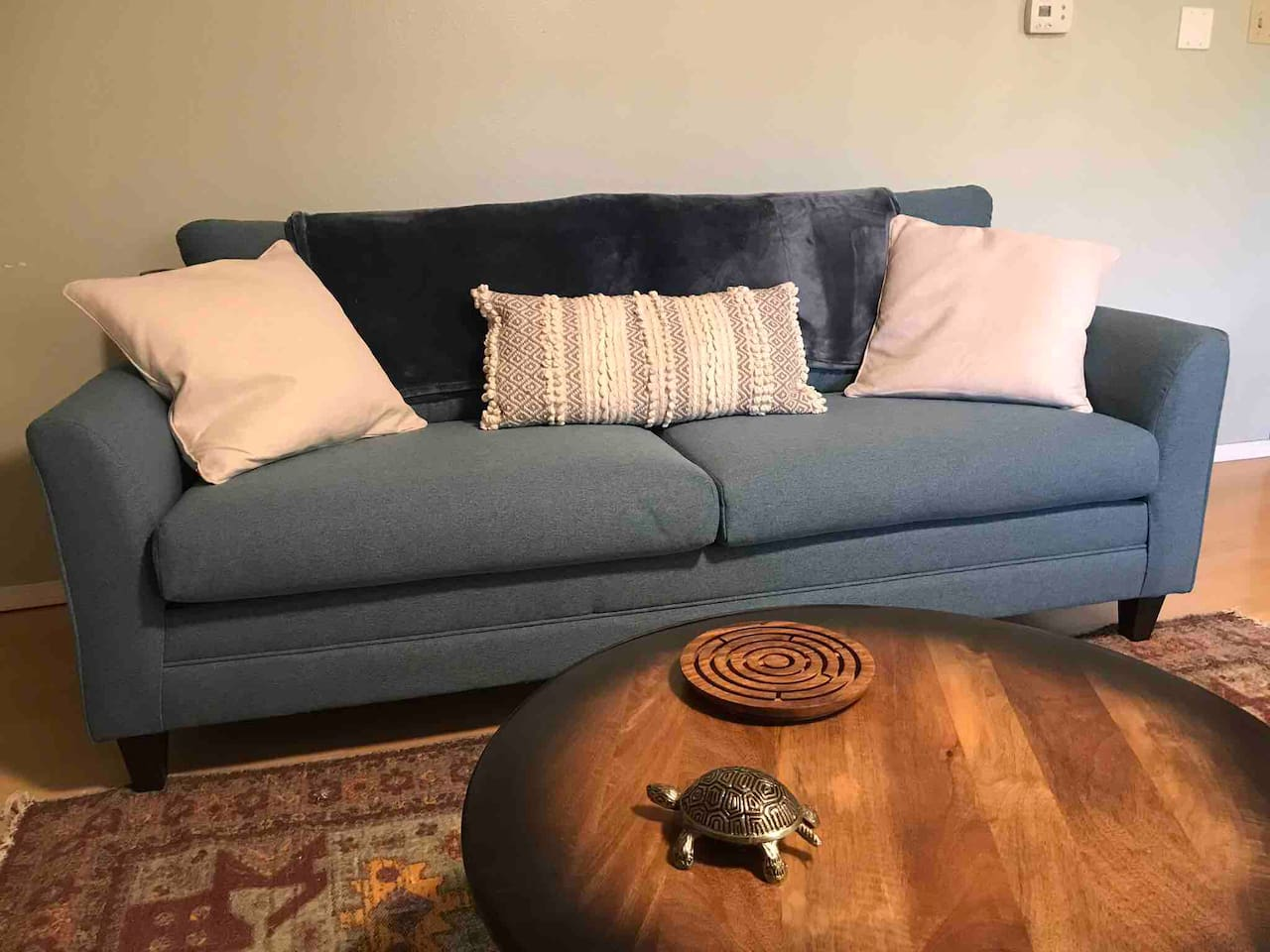 Comfortable couch with television, basic cable, WiFi to watch your favorite films. So many of them made In NM.