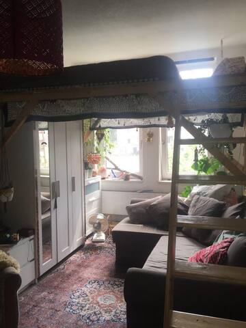 cozy room in Hildesheim with loft bed