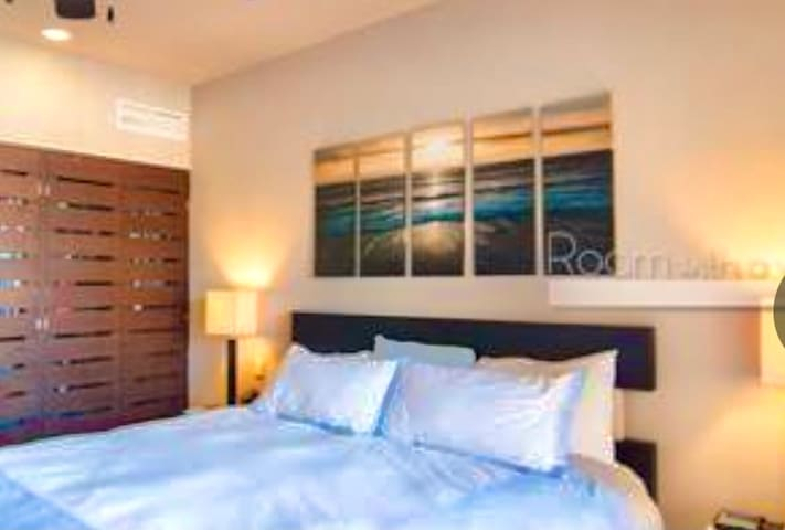 King comfort bed & separate central air condition. Balcony off of master bedroom to view  yachts coming & going.