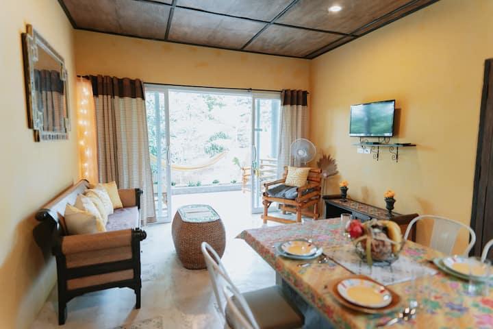 Design 2bedrooms house AC swimming-pool, Nai Wok