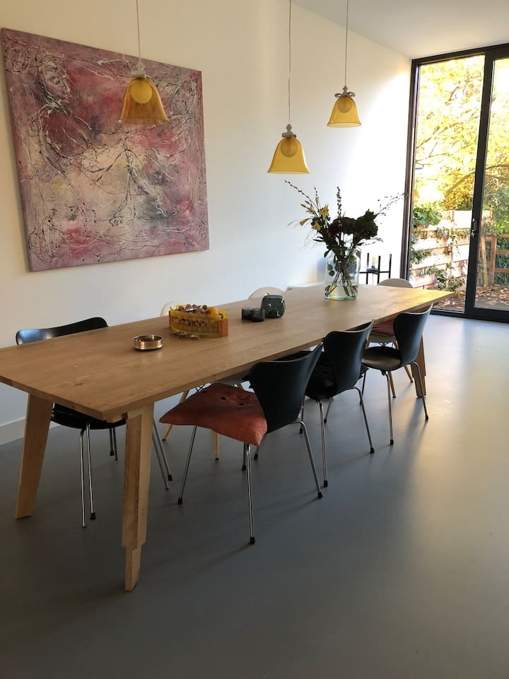 Large Dining Table, extra chairs available