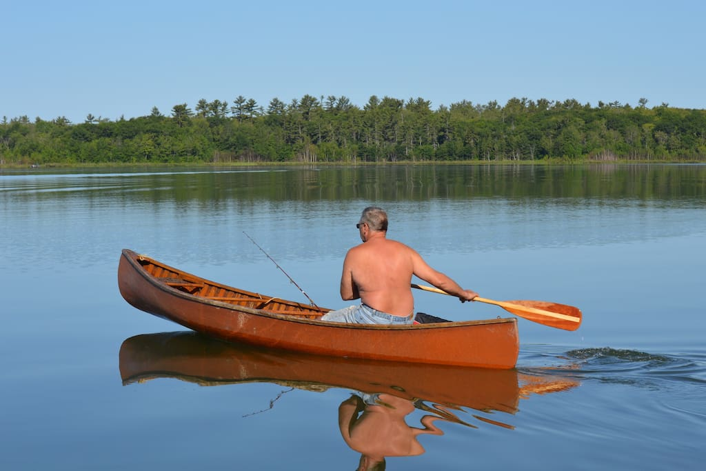 A morning stroll with the canoe you may use with life jackets
