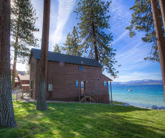 Beautiful large beachfront family home with breathtaking views of Lake Tahoe
