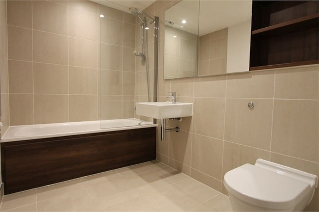 Bathroom exactly like this with walk in shower (will photograph)