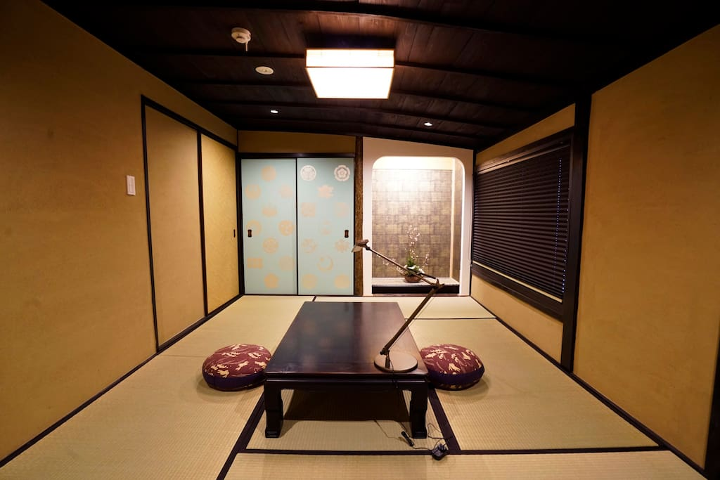Japanese style bedroom with 3 futons on 2F